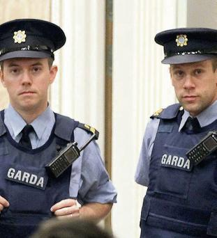 Gardai at the abandoned auction
