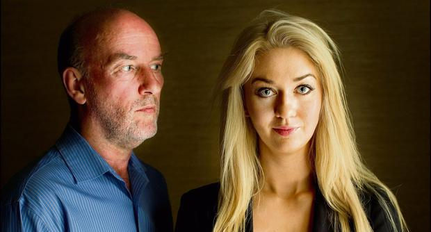 FACE-OFF: Niamh Horan with face reader Joseph McGuire.