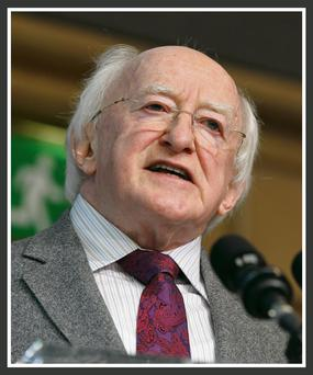 President Higgins: can refer bill