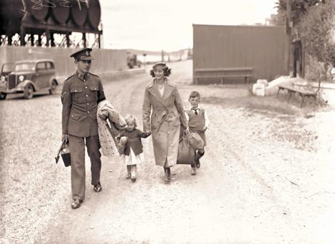 British troops left Spike Island in 1938. Pictured is Cpl EJ Thomas and his family leaving on July 11, 1938.