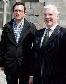 EXILED: Former Fine Gael deputies Terence Flanagan, left, and Peter Mathews could join forces to form part of a new political alliance.