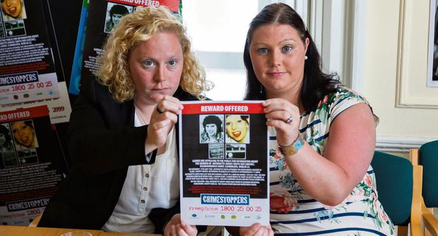 COLD CASE APPEAL: Lisa and Rachel Smith making an appeal last week for information on the murder of their mother, Antoinette Smith, over two decades ago