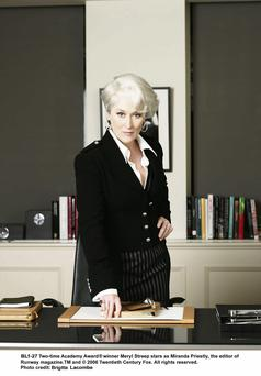 Meryl Streep as boss-from-Hell Miranda Priestly in 'The Devil Wears Prada' – statistics suggest that many workers would prefer to work for a man