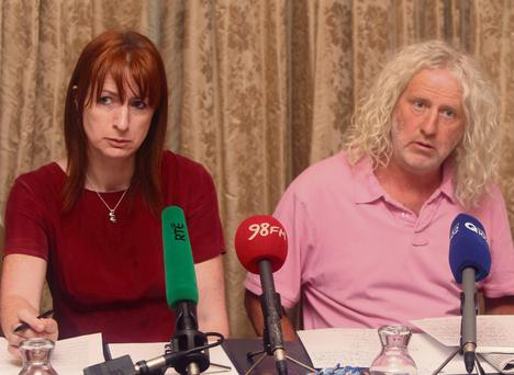 DOOMED: Clare Daly and Mick Wallace at a press conference to discuss the Garda Siochana Bill, which has little hope of being passed in the Oireachtas