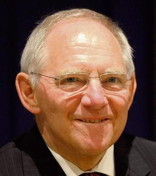 RULING OUT RELIEF FOR GREECE: Minister Wolfgang Schauble