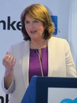 Joan Burton: opposed to welfare cuts