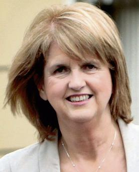 Joan Burton,TD.,the Minister for Social Protection at Leinster House yesterday.Pic Tom Burke 7/4/11