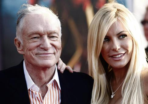 'Playboy' founder Hugh Hefner, seen here with Crystal Harris, funded the sex research of Virginia Johnson and William Masters.