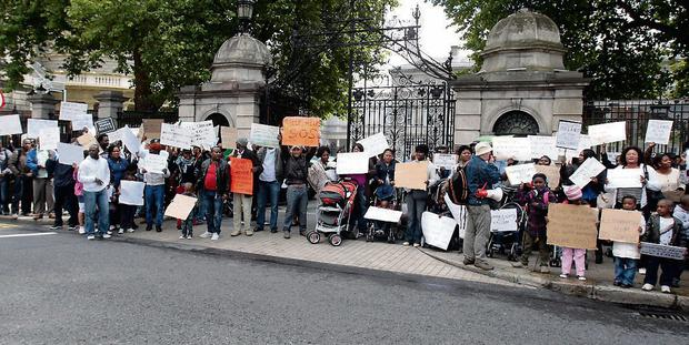 A rally last year calling on the Minister for Justice to reform the asylum system