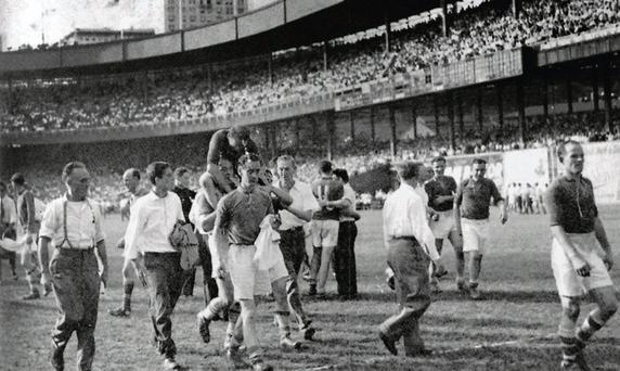 Cavan v Kerry in the Polo Grounds, New York, in 1947
