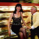 TROLLEY DASH: Patricia Devine with Feargal Quinn in a branch of Superquinn – the retail boss made shoppers feel special when they walked into the store