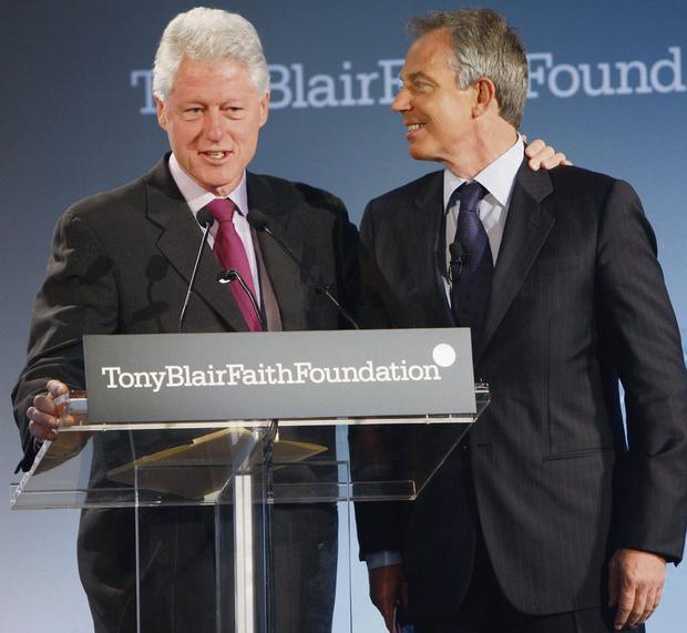Bill Clinton, the former US president, and Tony Blair, the former British prime minister
