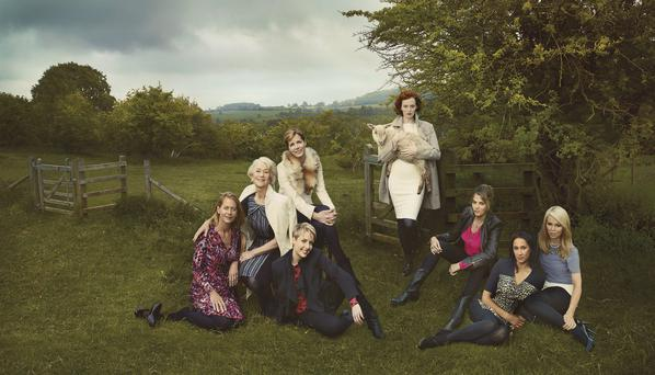 Marks & Spencer's advert, featuring Jasmine Whitbread, Helen Mirren, Darcey Bussell, Helen Allen, Karen Elson, Tracey Emin, Monica Ali and Katie Piper, who Helen Mirren said she would have at her ultimate dinner party