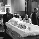 HARD TO CREDIT: Charles Haughey, who restricted access to condoms to married couples, pays his respects to the late Archbishop McQuaid in March 1973. Archbishop McQuaid said that Mary Robinson's bid to decriminalise 'artifical contraception' was 'a curse on Ireland',