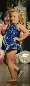 Alana Thompson, aka Honey Boo-Boo, competes in a child beauty pageant in the US during filming of her reality TV show.