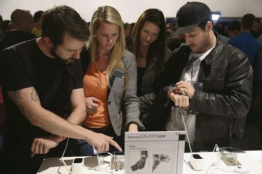 Samsung unveiled the Galaxy Gear smartwatch, calling it a 'fashion statement', in Germany this week