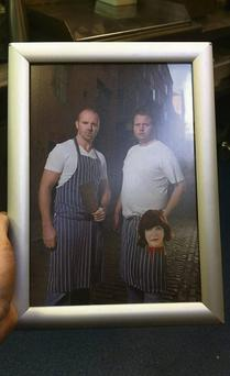 NASTY: Chefs Oliver Dunne and Rory Carville in the image Dunne posted online