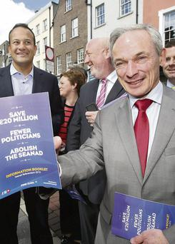 ARGUMENTS DO NOT ADD UP: Richard Bruton claims that abolishing the Seanad will save €20m but others dispute this