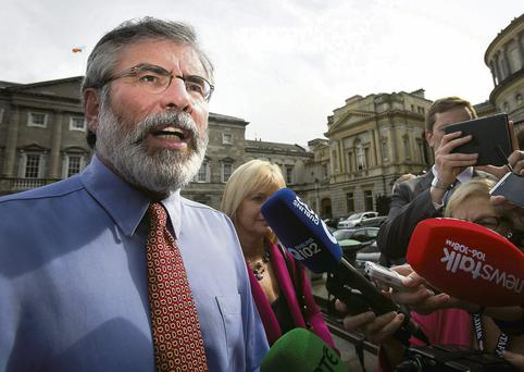 Gerry Adams, leader of Sinn Fein and TD for Louth