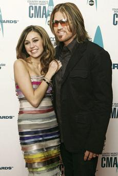 Miley Cyrus and her musician father, Billy Ray