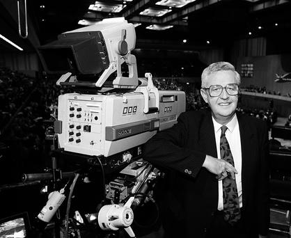 Well-respected: John Cole at the BBC in 1992, where he did his most well-admired work