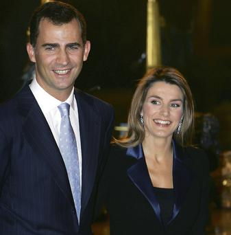 Prince Felipe with his wife, Princess Letizia