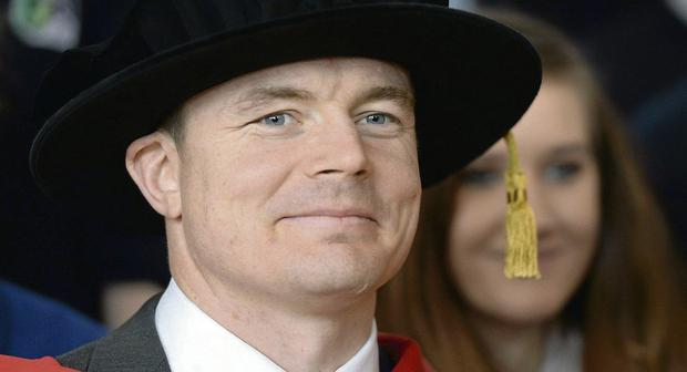 Brian O'Driscoll received an honorary doctorate from DCU this week