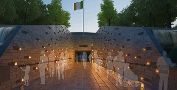 An artist's impression of the memorial to victims of institutional abuse.