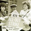 Striking Dunnes workers in 1985