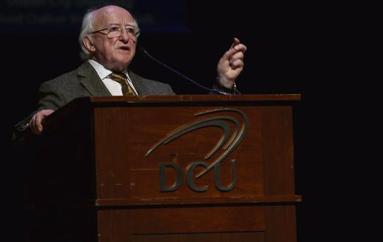 ON A MISSION: President Michael D Higgins. Picture Nick Bradshaw