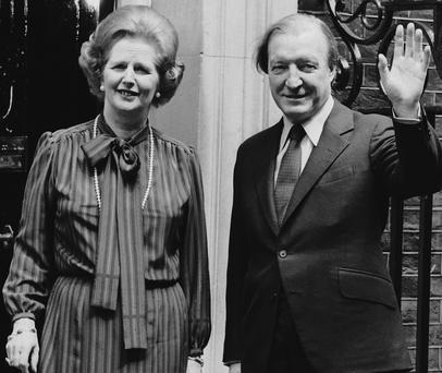 A MATTER OF DIPLOMACY: Margaret Thatcher with Charlie Haughey in May, 1980 (Photo: Keystone/Getty Images)