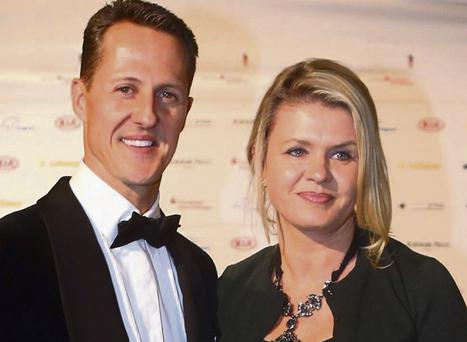 Schumacher and his wife Corinna, Photo: Alex Grimm/Bongarts/Getty Images