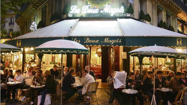 NIGHT OUT: Les Deux Magots is a famous café in boulevard Saint Germain-des-Prés in Paris. Proposals for cafe bars in Ireland were shelved in the Nineties.