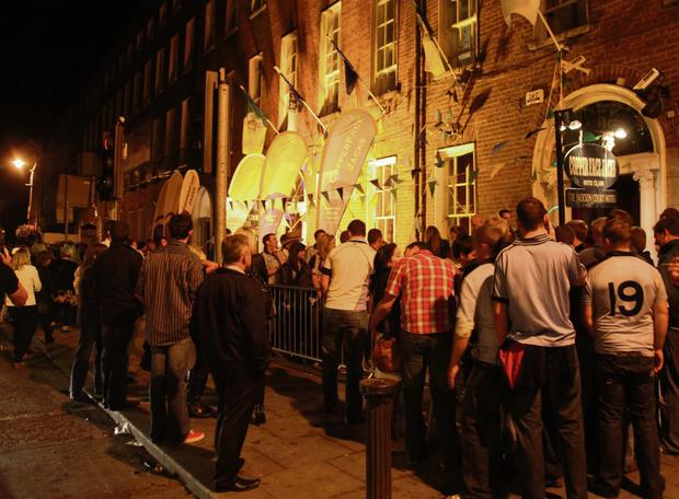 The queue at Coppers