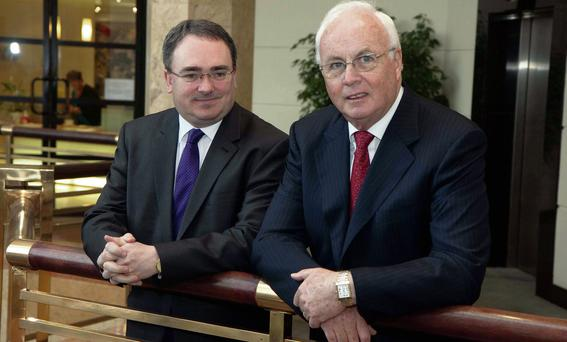 COSTS: Brendan McDonagh, Nama chief executive, and Frank Daly, Nama chairman. Photo: Colm Mahady/Fennells
