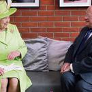 Queen Elizabeth with President Michael D Higgins