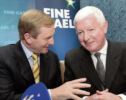 Taoiseach Enda Kenny with former Fine Gael strategist and Rehab director Frank Flannery
