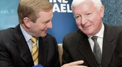Taoiseach Enda Kenny with former Fine Gael strategist Frank Flannery