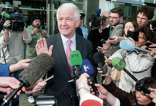 RELIEF: Sean FitzPatrick leaves the court a free man