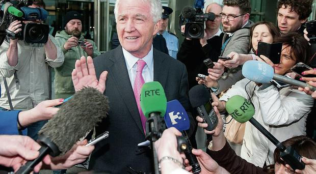 RELIEF: Sean FitzPatrick leaves the court a free man last week.