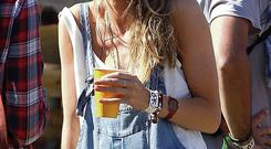 BOHO CHICK: Cressida Bonas, Prince Harry's ex-girlfriend, at the Glastonbury Festival