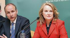 Fianna Fail leader, Michael Martin, with Cllr. Mary Fitzpatrick