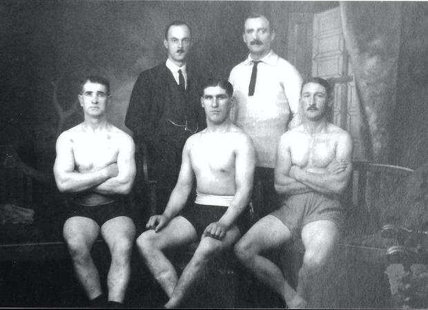 Herbert Woods, centre, whose decision to shoot sparked off the massacre