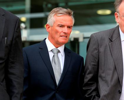 JAILED: Former Fianna Fail junior minister Ivor Callely was sentenced to five months in prison for fraudulently claiming mobile phone expenses. Photo: Frank Mc Grath