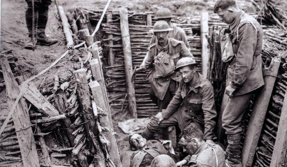 British soldiers in Belgium in 1916. Photo by Fr Browne, from 'Father Browne's First World War'.