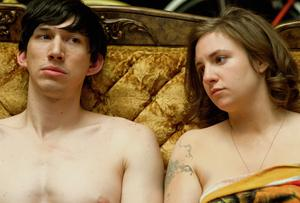 TO BED OR NOT TO BED: Adam Driver as Adam Sackler and Lena Dunham as Hannah Horvath from the TV series 'Girls'