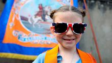 Strong feeling: Ruby Stewart during the Twelfth of July parade in Belfast in 2019. Most unionists would feel cut off from their true identity in a united Ireland. Photo: Paul Faith