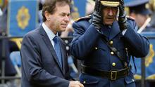 Garda Commissioner Martin Callinan and the Justice Minister Alan Shatter