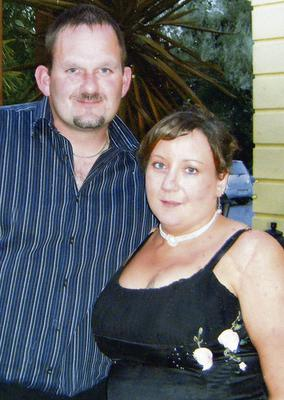 Danny Foley with fiancee Michelle O'Sullivan.
