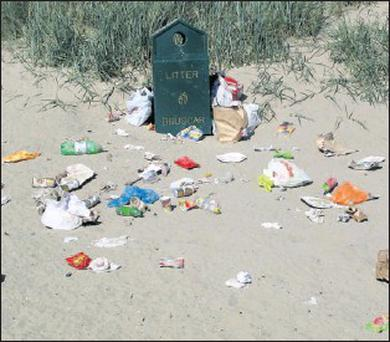 Rubbish dumped on beaches is a national disgrace.